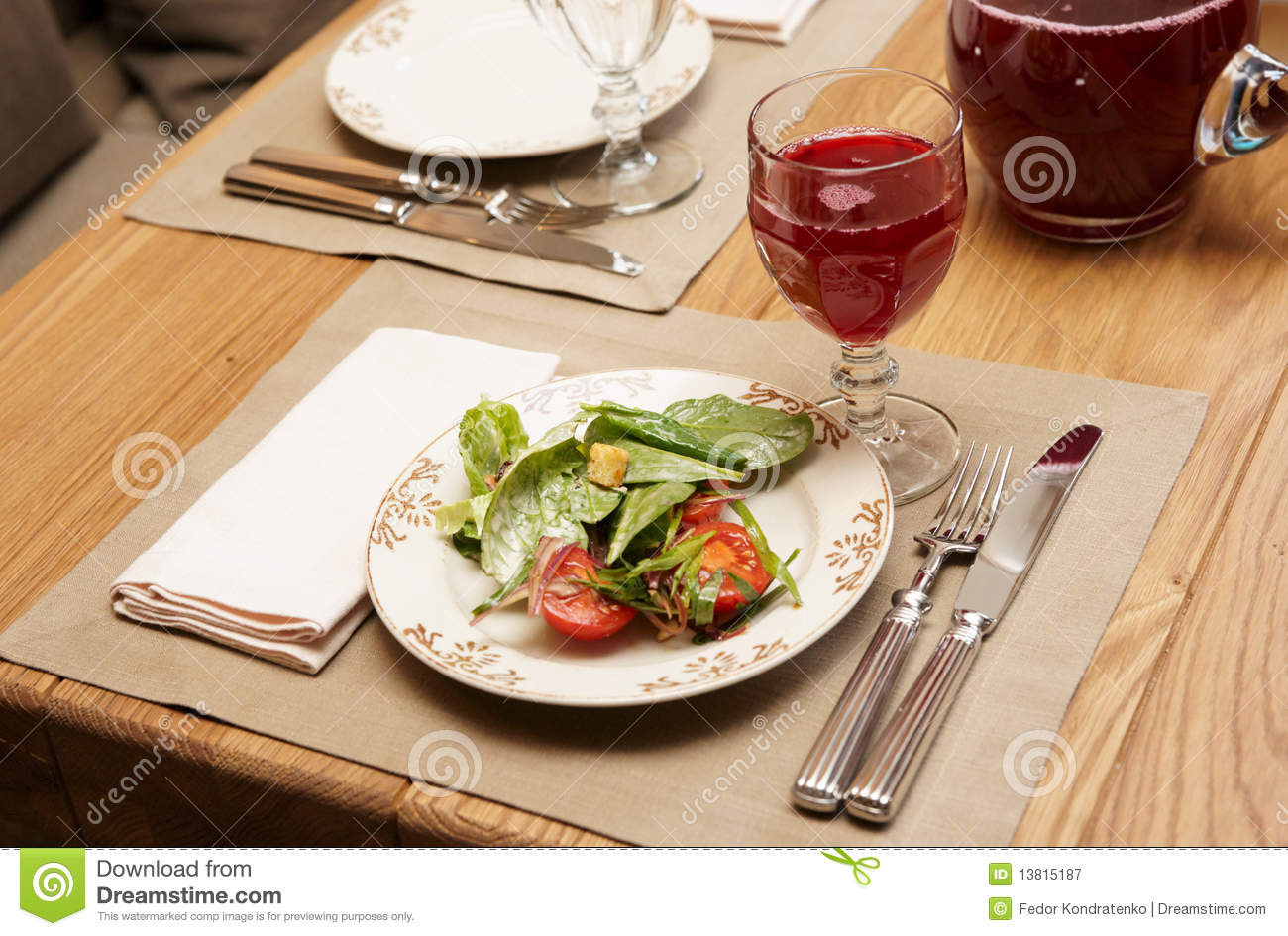Healthy Restaurant Appetizers  Healthy Appetizer Restaurant Table Royalty Free Stock
