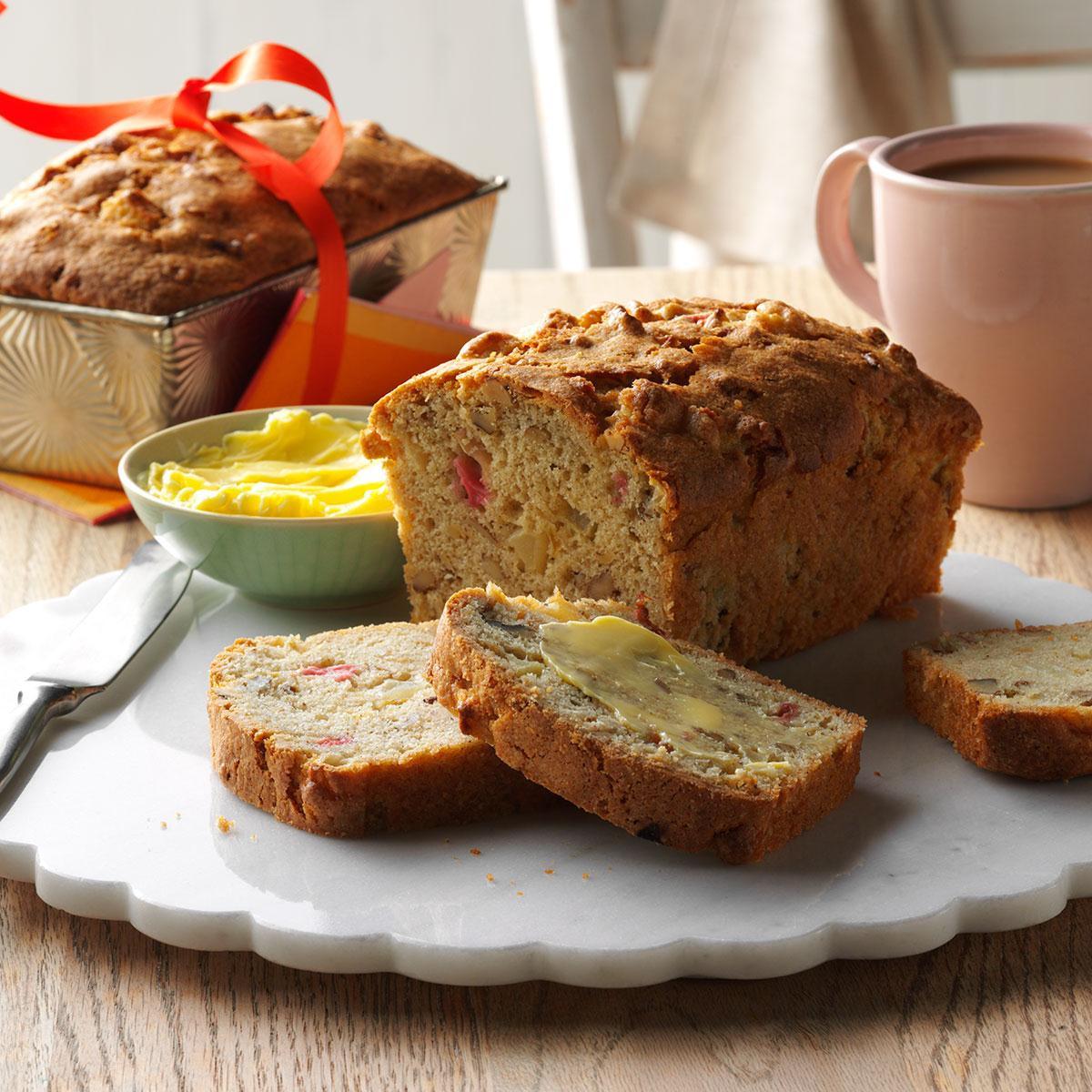 Healthy Rhubarb Bread  Apple Rhubarb Bread Recipe
