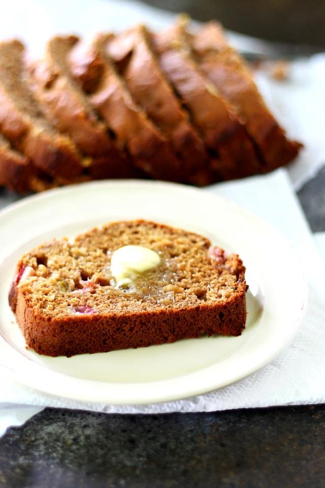 Healthy Rhubarb Bread  Healthy Rhubarb Banana Bread Kim s Cravings