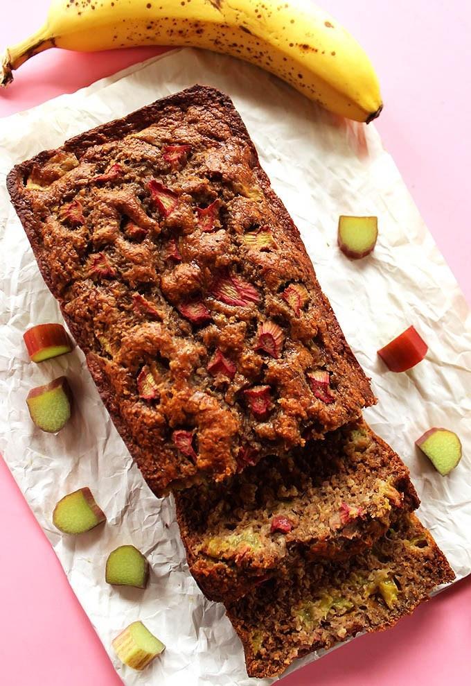 Healthy Rhubarb Bread  Banana Rhubarb Bread GF Robust Recipes
