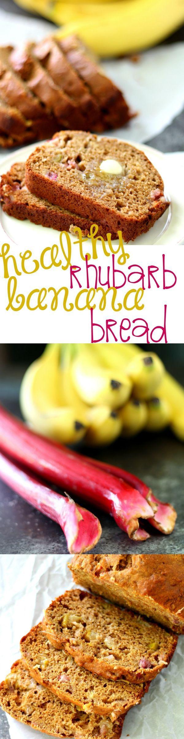Healthy Rhubarb Bread  Healthy Rhubarb Banana Bread Recipe