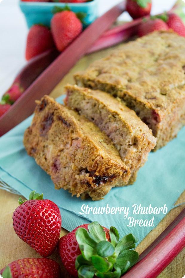 Healthy Rhubarb Bread  Healthy Strawberry Rhubarb Bread Recipe fANNEtastic food