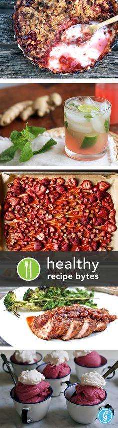 Healthy Rhubarb Desserts  Healthy Rhubarb Recipes on Pinterest