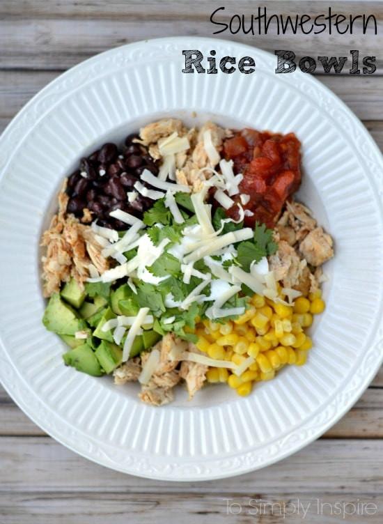 Healthy Rice Bowl Recipes  Southwestern Rice Bowl