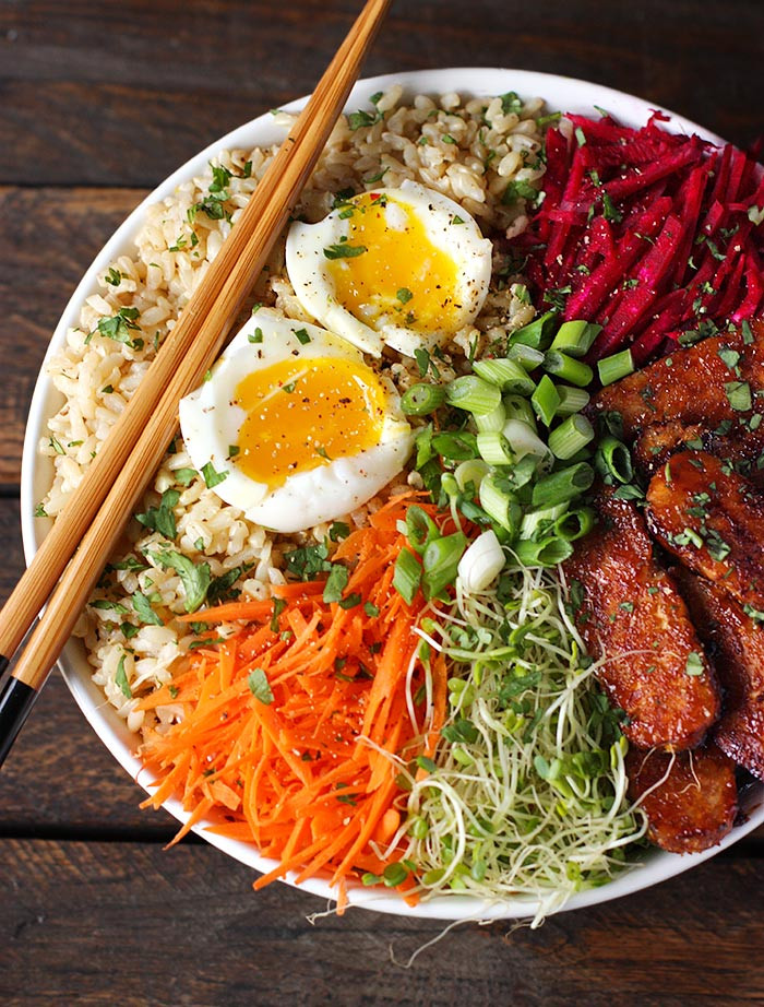 Healthy Rice Bowl Recipes  Smoky Tempeh Ve able and Rice Bowl