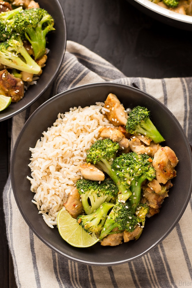 Healthy Rice Dinners  Peanut Sauce Chicken and Broccoli Bowls Fox and Briar