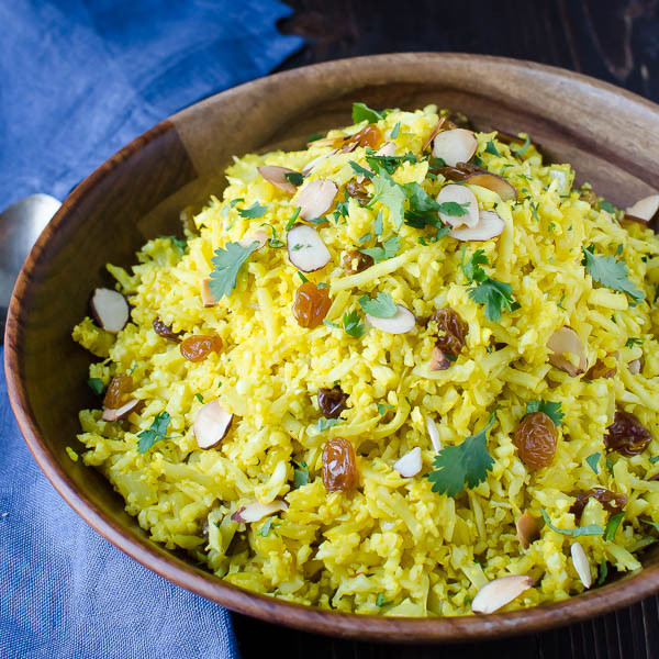 "Healthy Rice Pilaf  Curried Cauliflower ""Rice"" Pilaf"