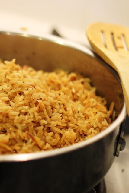 Healthy Rice Pilaf  Seasoned Rice Pilaf or Rice a Roni Without the Box