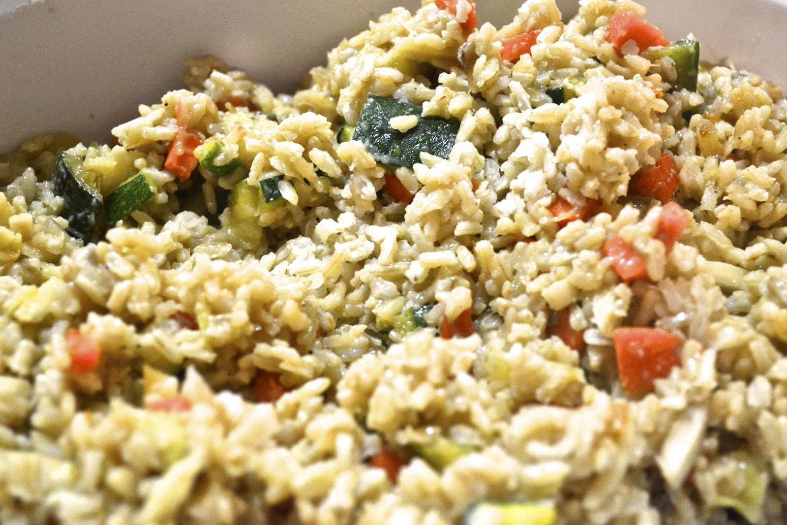 """Healthy Rice Side Dishes  """"Point less"""" Meals Brown Rice and Zucchini Pilaf"""