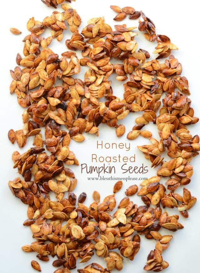 Healthy Roasted Pumpkin Seeds  Honey Roasted Pumpkin Seeds with Cinnamon Bless This Mess