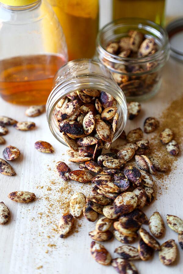 Healthy Roasted Pumpkin Seeds  Spiced Roasted Pumpkin Seeds Pickled Plum Food And Drinks