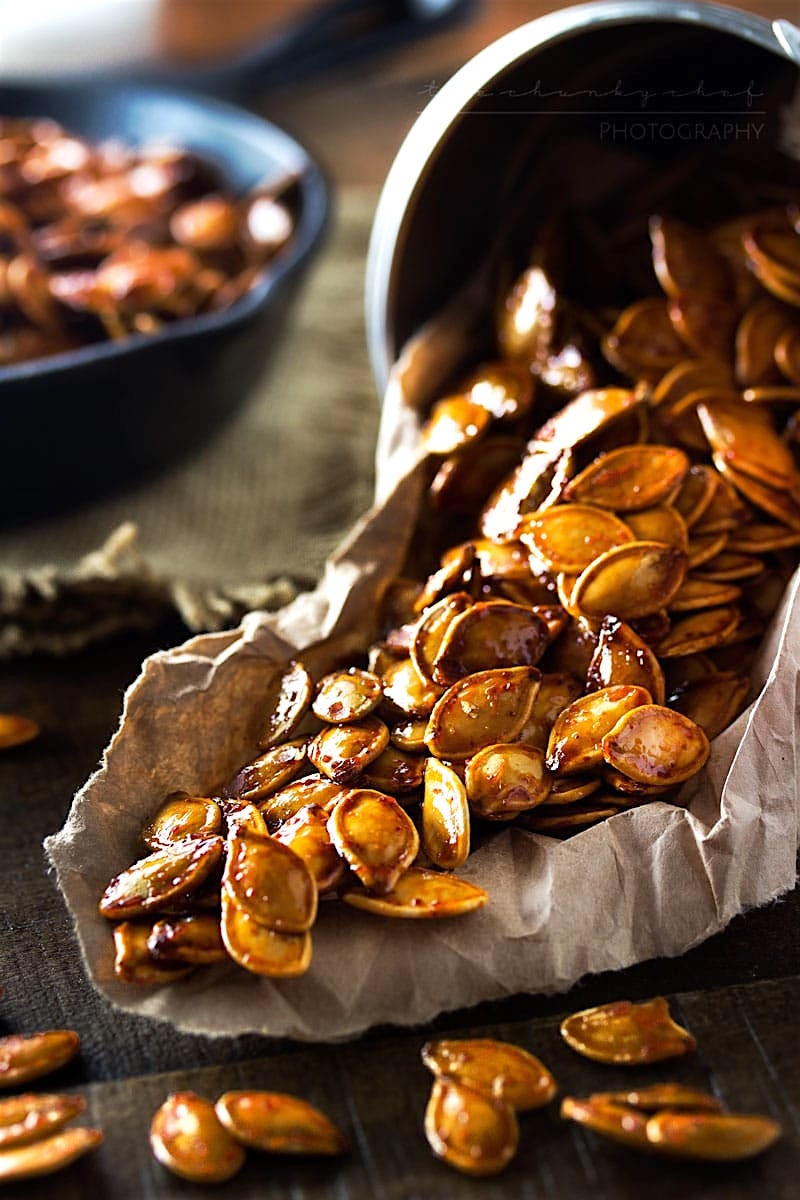 Healthy Roasted Pumpkin Seeds  13 Healthy Halloween Snacks GreenBlender
