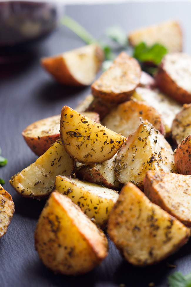 Healthy Roasted Red Potatoes  Simple Tuscan Oven Roasted Red Potatoes