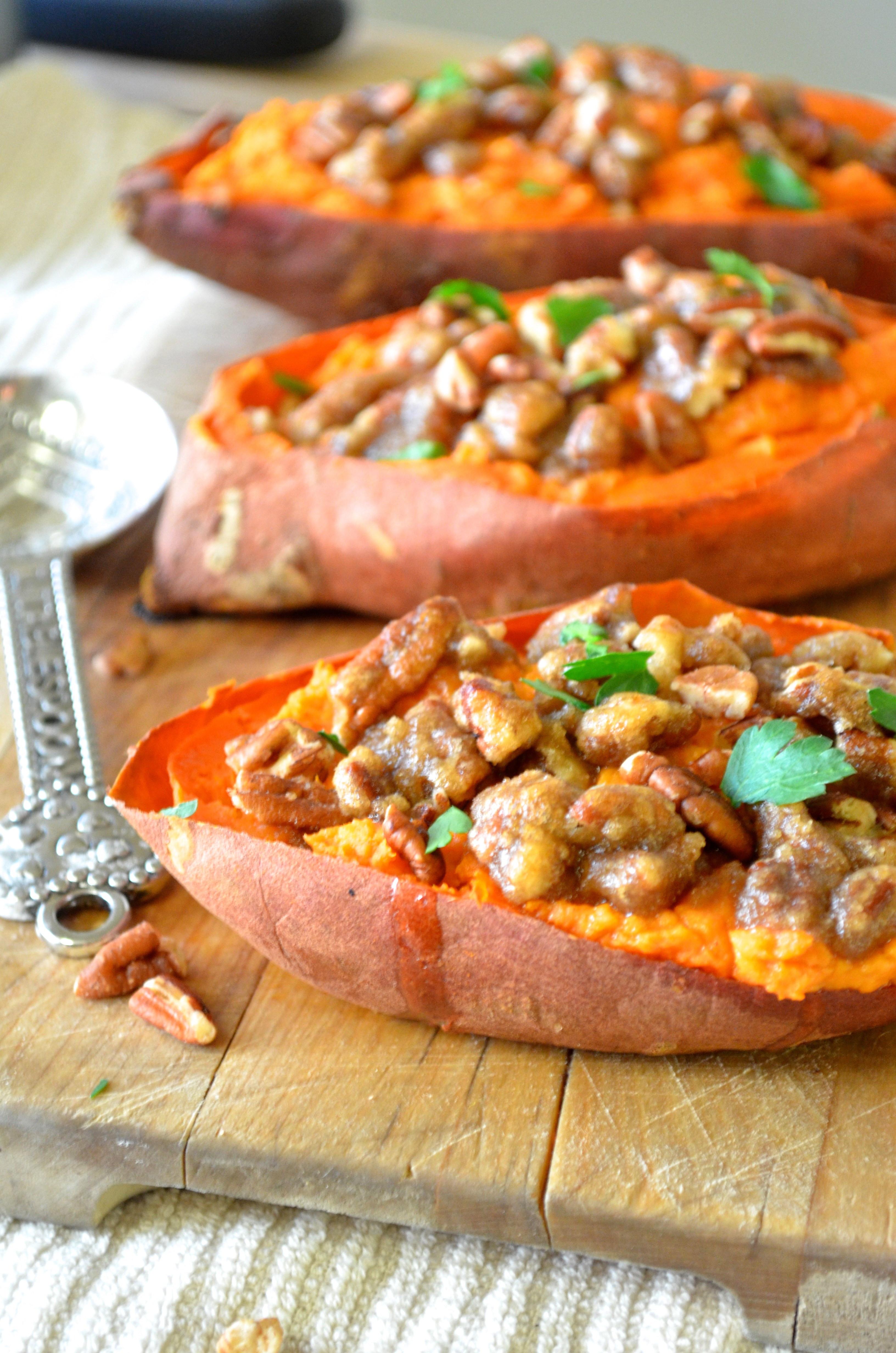 Healthy Roasted Sweet Potatoes  Twice Baked Sweet Potatoes with Pecan Streusel Apple of