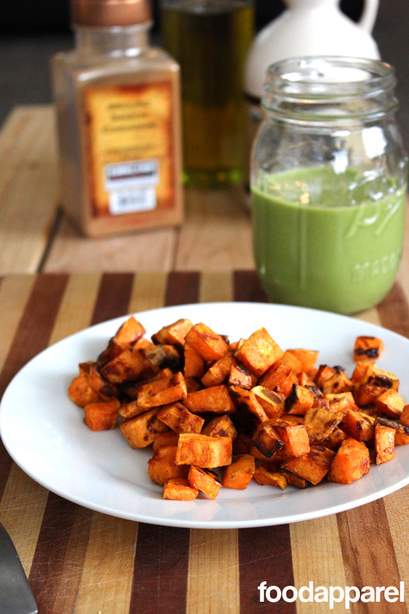 Healthy Roasted Sweet Potatoes  Easy and Healthy Maple Cinnamon Roasted Sweet Potatoes