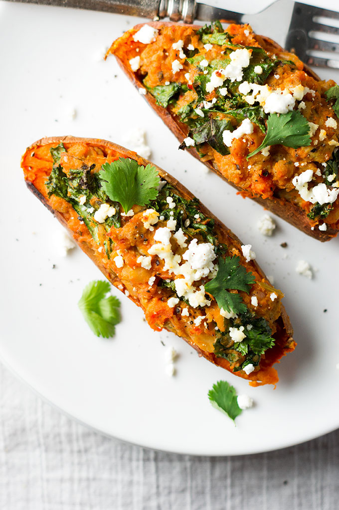 Healthy Roasted Sweet Potatoes  healthy twice baked sweet potatoes