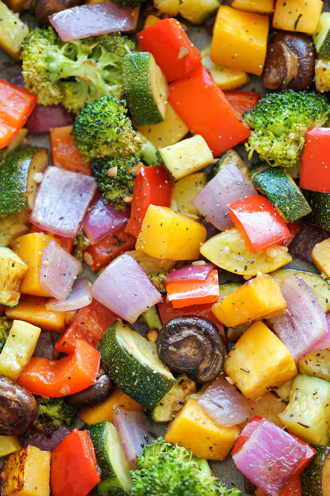 Healthy Roasted Vegetables  26 simple last minute recipes that will save your