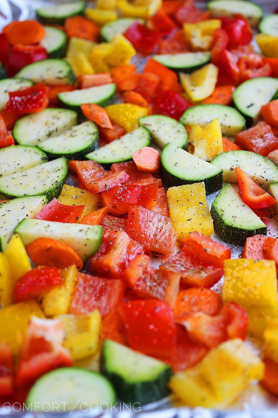 Healthy Roasted Vegetables  Easy Roasted Summer Ve ables