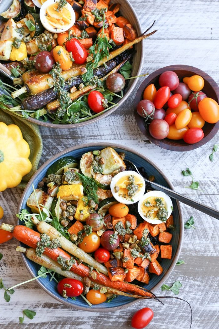Healthy Roasted Vegetables  Healthy Ve arian Meal Plans Week 65 Making Thyme for
