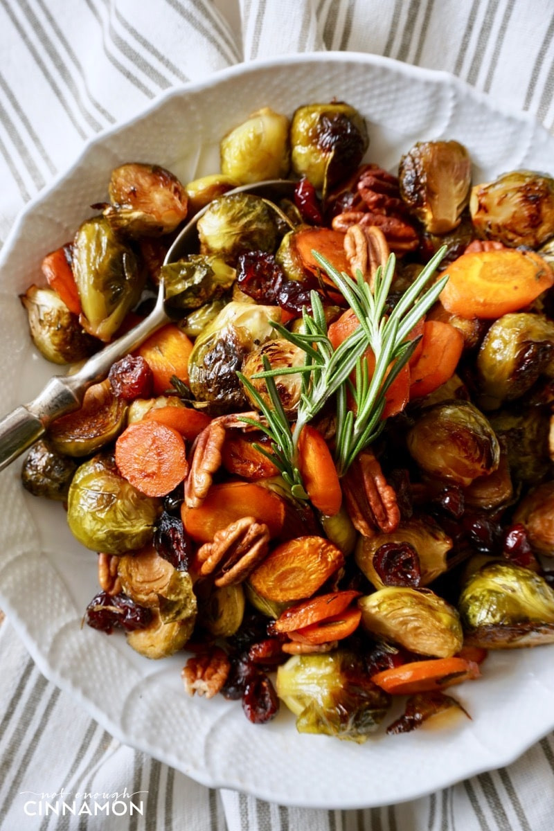 Healthy Roasted Vegetables  Easy Holiday Roasted Ve ables with Pecans and