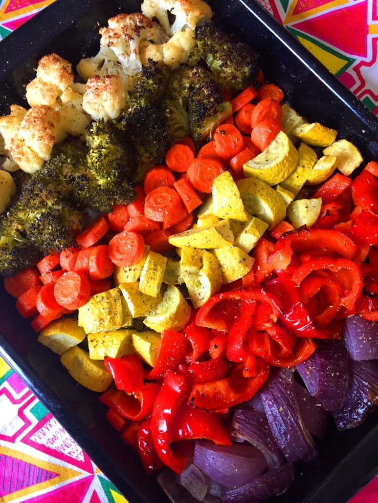 Healthy Roasted Vegetables Recipe  Rainbow Ve ables Recipe – Easy Healthy Oven Roasted