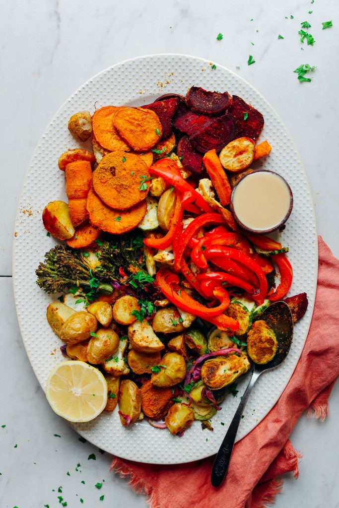 Healthy Roasted Vegetables Recipe  Oil Free Roasted Ve ables