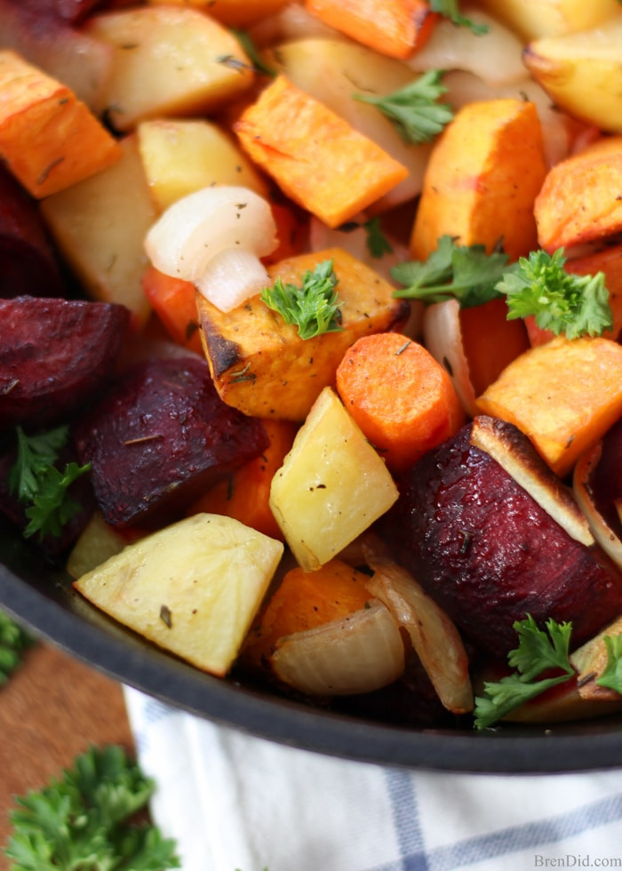 Healthy Roasted Vegetables Recipe  Oven Roasted Root Ve ables Bren Did