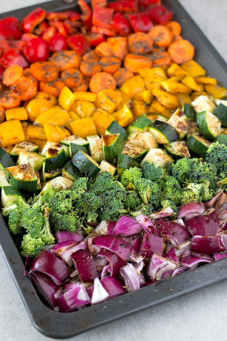 Healthy Roasted Vegetables Recipe  Oil Free Rainbow Roasted Ve ables