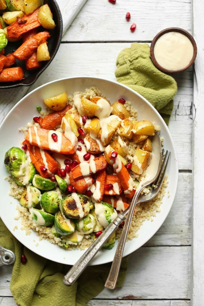 Healthy Roasted Vegetables Recipe  Roasted Ve able Quinoa Harvest Bowl