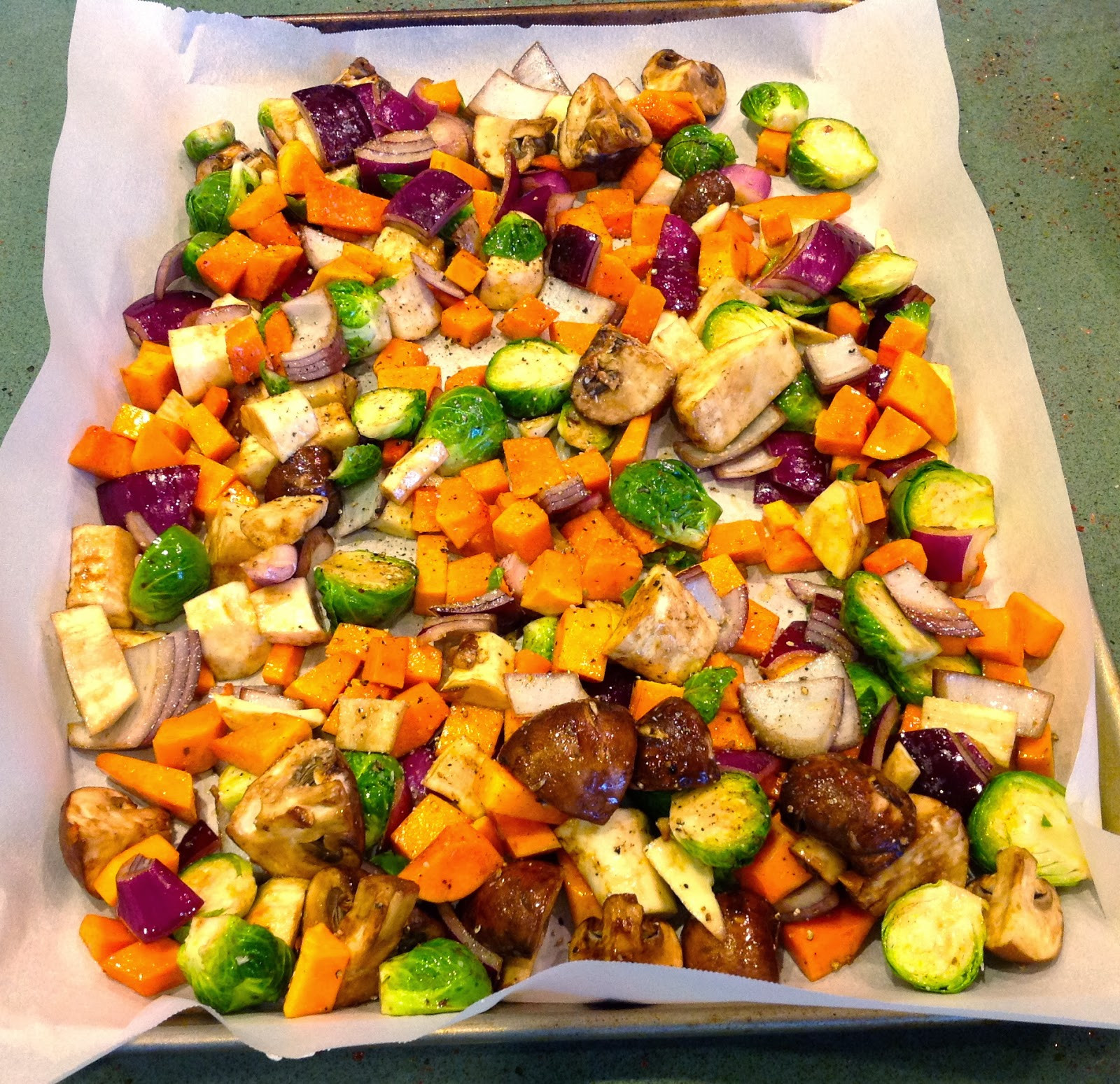 Healthy Roasted Vegetables Recipe  Planning for Thanksgiving Farro and Wild Rice with