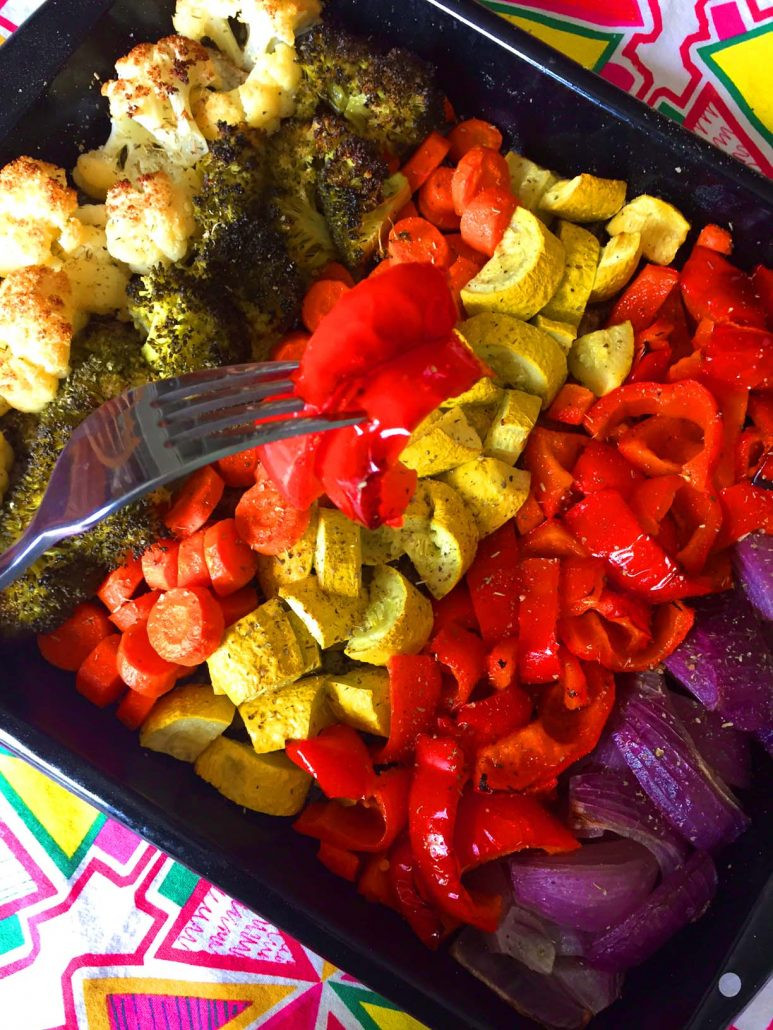 Healthy Roasted Vegetables  Rainbow Ve ables Recipe – Easy Healthy Oven Roasted
