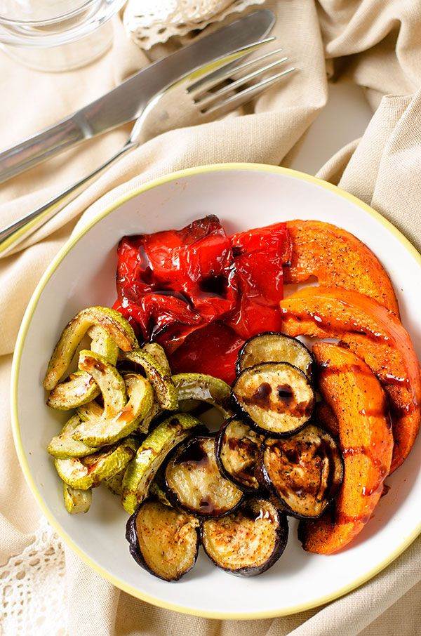 Healthy Roasted Vegetables  Roasted Ve ables with Balsamic Glaze Recipe