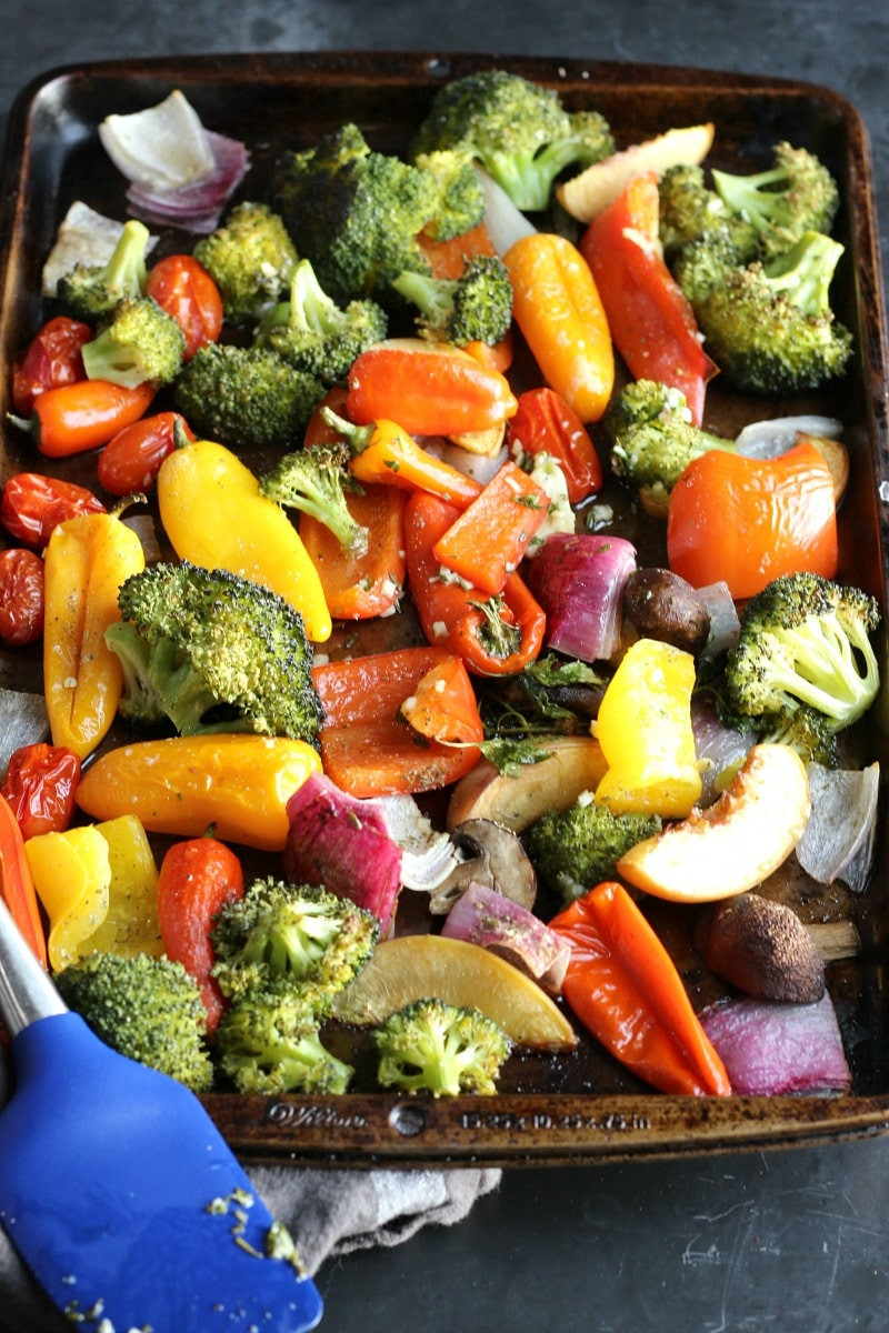 Healthy Roasted Vegetables  Sheet Pan Roasted Veggies