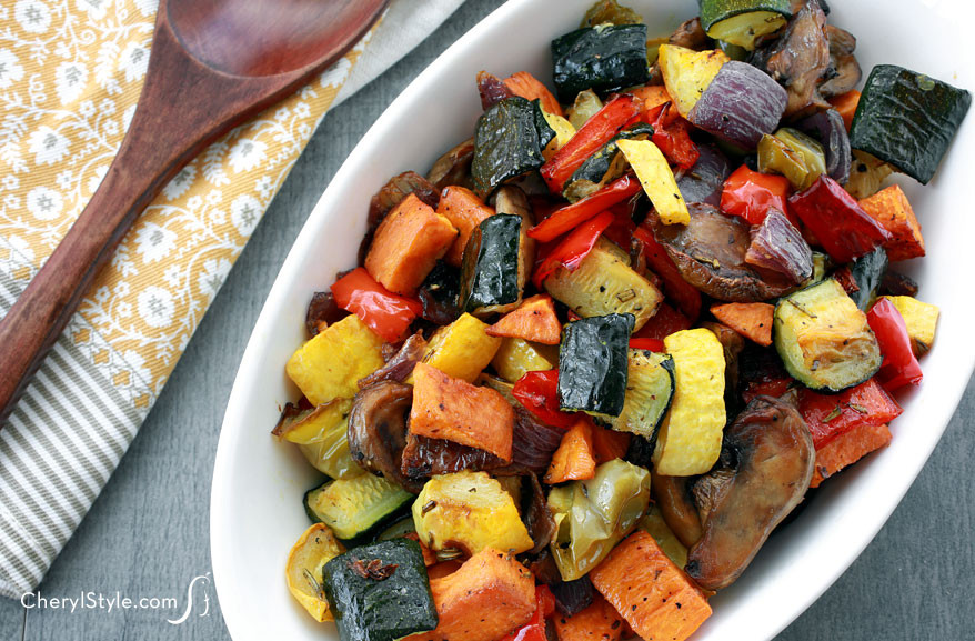 Healthy Roasted Vegetables  Roasted ve able medley Everyday Dishes