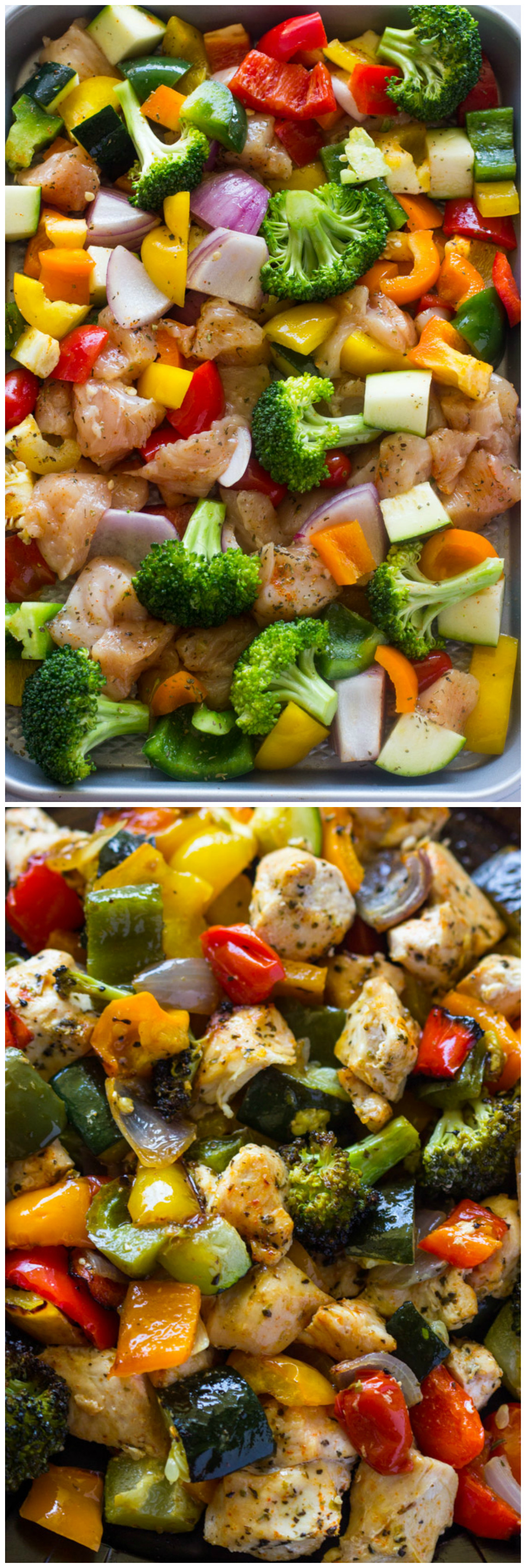 Healthy Roasted Vegetables  oven grilled chicken and ve ables
