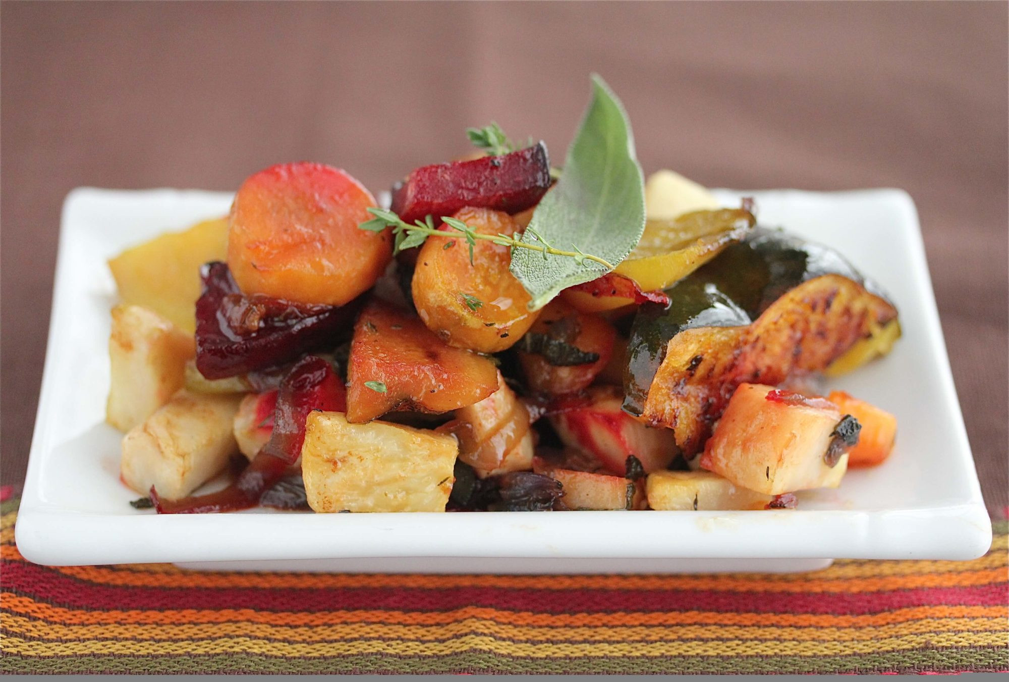 Healthy Roasted Vegetables  Oven Roasted Ve ables with Sage and Thyme Recipe