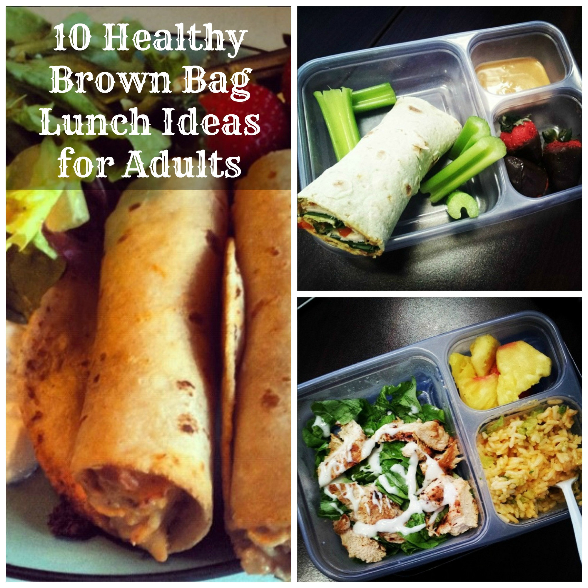 Healthy Sack Lunches  10 Brown Bag Lunch Ideas for Adults