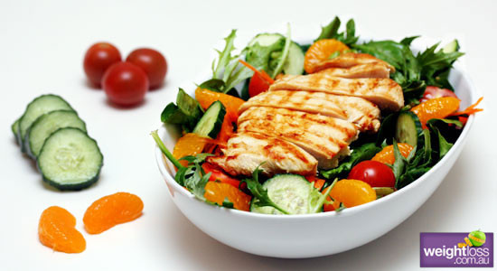 Healthy Salad Dressing Recipes Weight Loss  Grilled Chicken Salad & Honey Citrus Dressing