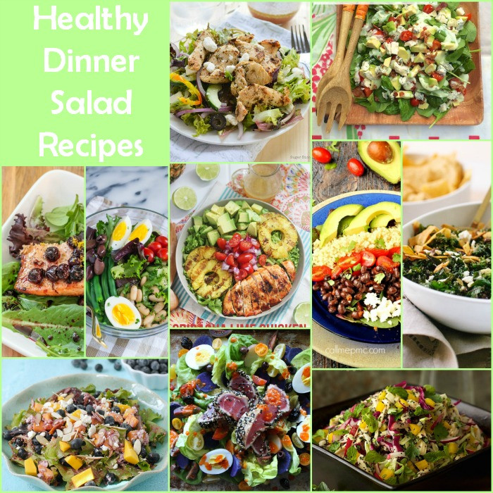 Healthy Salad Recipes For Dinner  Healthy Dinner Salad Recipe Round Up Food Done Light