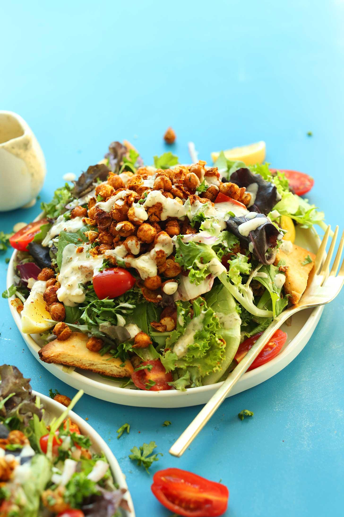 Healthy Salad Recipes For Dinner  Chickpea Shawarma Salad