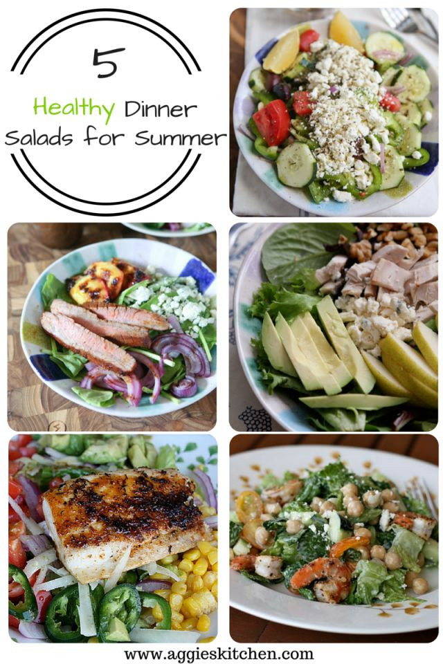 Healthy Salads For Dinner  5 Healthy Dinner Salads for Summer