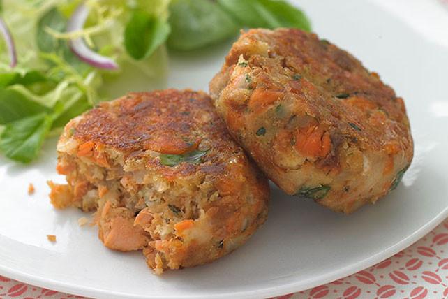 Healthy Salmon Cake Recipe  HEALTHY LIVING Salmon Cakes Recipe Kraft Recipes