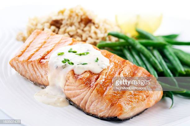 Healthy Salmon Dinner  Salmon Seafood Stock s and