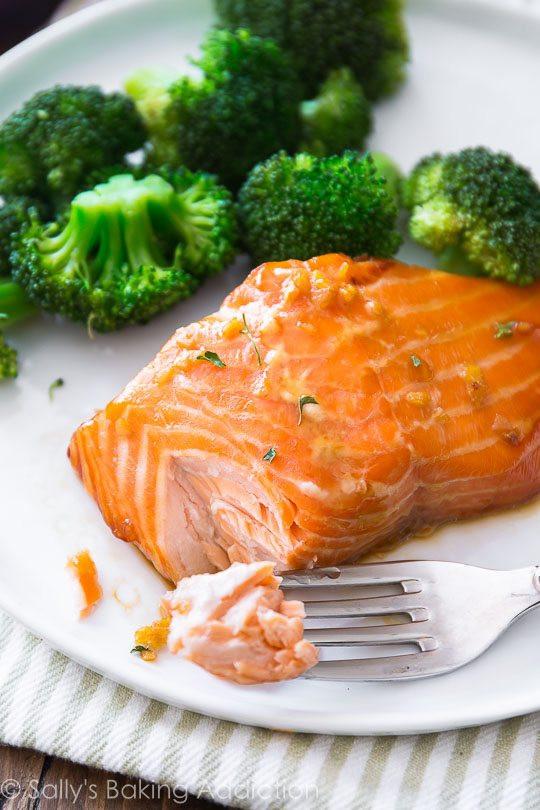 Healthy Salmon Dinner  Easy Healthy Dinner Garlic Honey Ginger Glazed Salmon