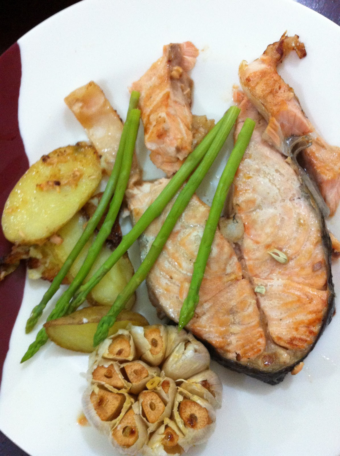 Healthy Salmon Dinner  TURKNOY Turknoy Dishes A Healthy Salmon Dinner