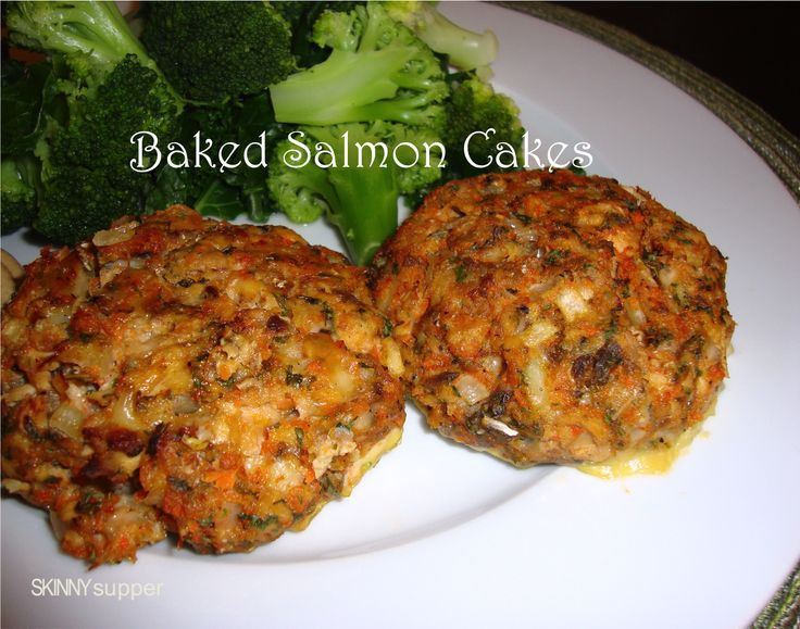Healthy Salmon Patties Baked  Skinny Supper Baked Salmon Cakes