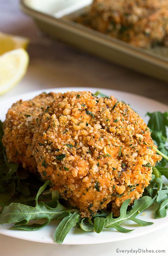 Healthy Salmon Patties Baked  Panko Breaded Baked Salmon Cakes Recipe Video