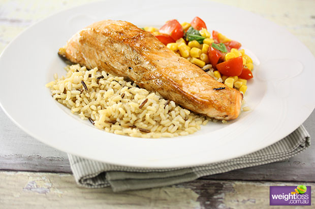 Healthy Salmon Recipes For Weight Loss  Grilled Salmon & Corn Salsa