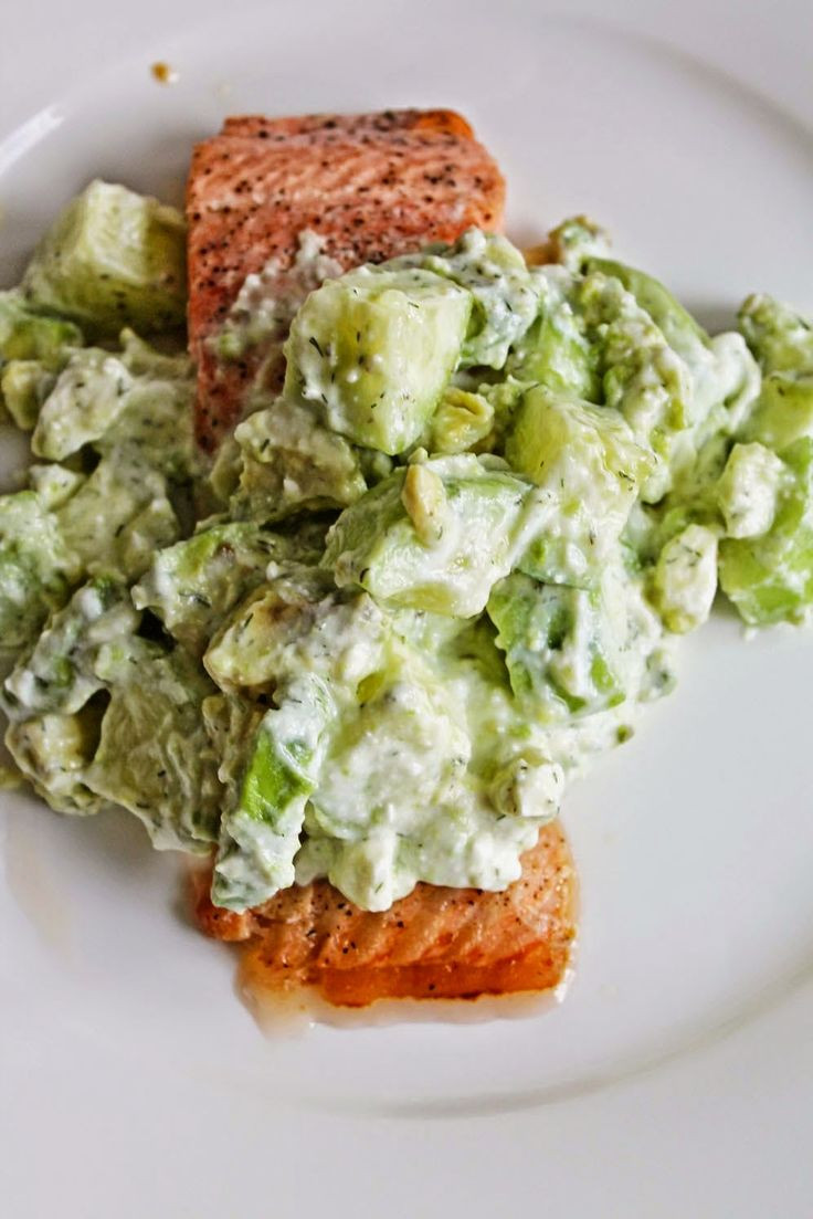 Healthy Salmon Recipes For Weight Loss  Healthy Dinner Recipe Salmon with Avocado Cucumber