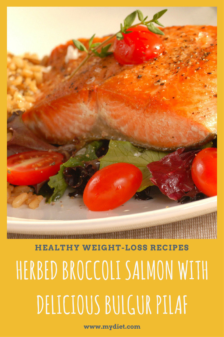 Healthy Salmon Recipes For Weight Loss  Healthy Weight Loss Recipes Herbed Broccoli Salmon With